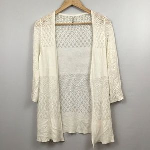 Stradivarius Long Sleeve Open Front Knit Cardigan